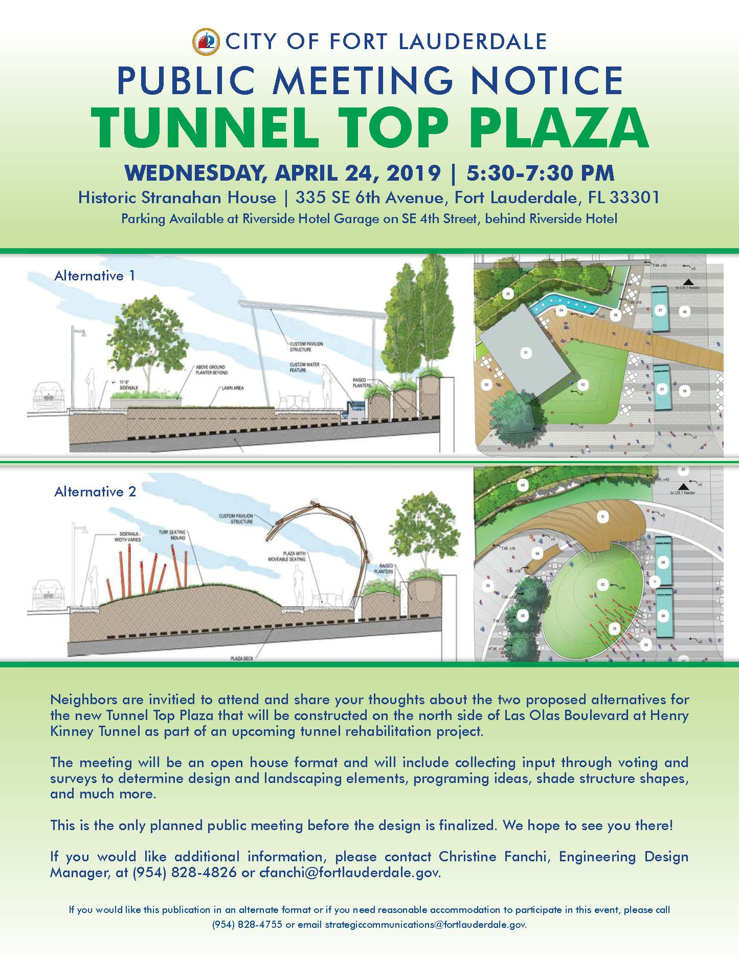 5254 TAM Tunnel Top Plaza Public Meeting Flyer 4 2 19
