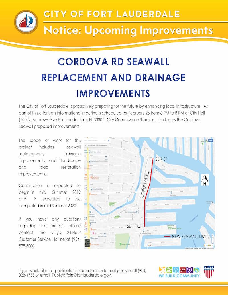 Cordova Seawall Replacement Informational Meeting Flyer 2 13 2019 Final